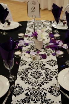 Black Damask & Purple